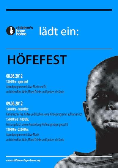 Flyer zum Höfefest 2012